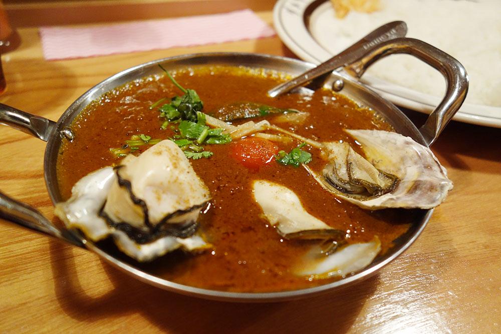 牡蠣のカレー