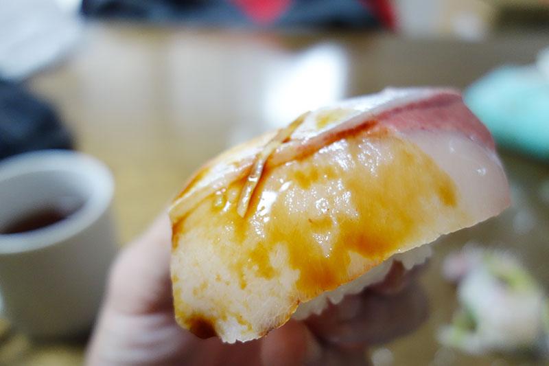 ブリの握り寿司